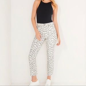 Abercrombie & Fitch Skinny Leopard Mom Jeans